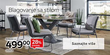 Moderne stolice i blagovaonski stol Lesnina XXXL