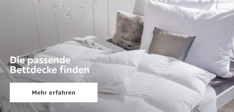 Die passende Bettdecke finden