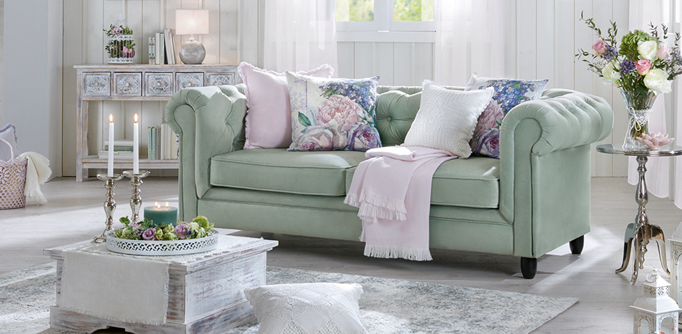 wohnzimmer couch mint