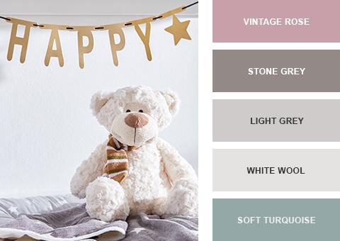 skandinavisches Babyzimmer Farben