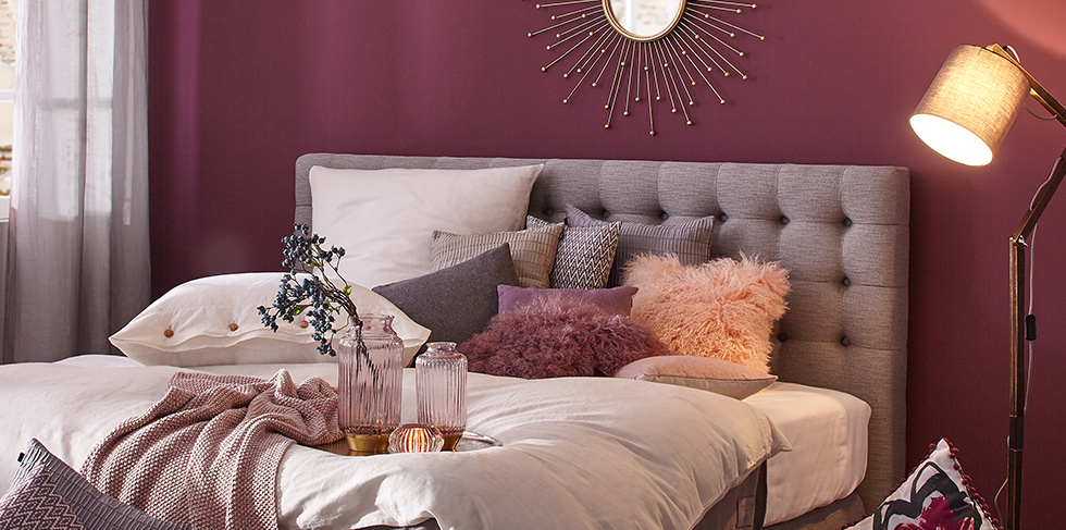 Purple Passion Schlafzimmer