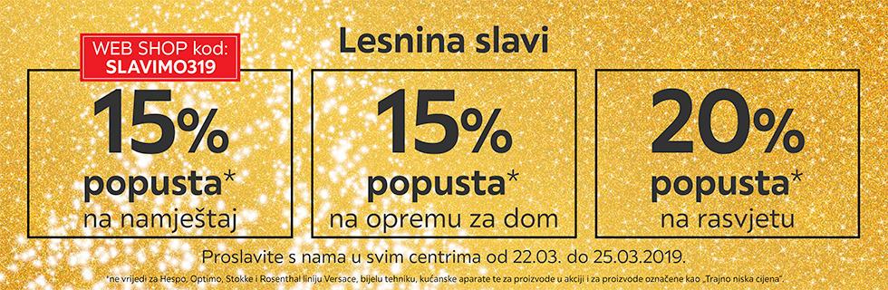 Popusti za godišnjicu Lesnine XXXL