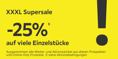 -25% auf viele Einzelstücke  CODE: SUPERSALE