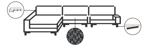 Sofa mit Konfigurationsmöglichkeiten