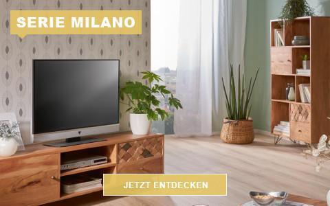 Wohnzimmer Milano Akazie massiv