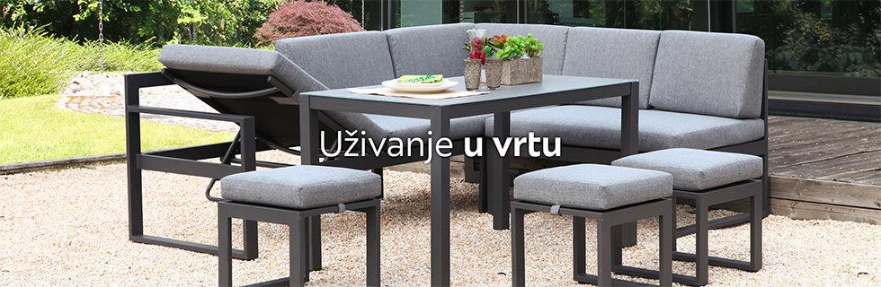 Kvalitetna i moderna vrtna garnitura Lesnina XXXL
