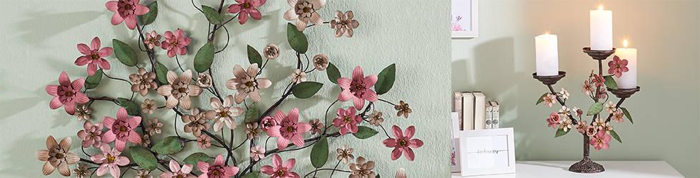 Zidna cvjetna dekoracija