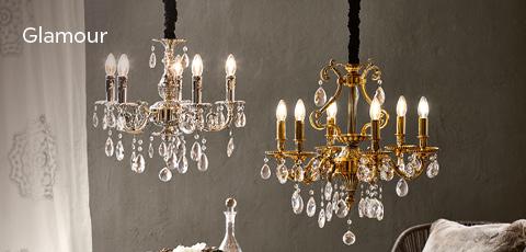 Edlene Kronleuchten mit Kristalle - Glamouröse Leuchten und Lampen