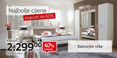 Elegantna i moderna spavaća soba Lesnina XXXL
