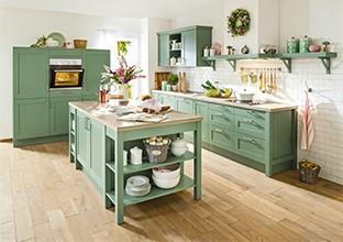 Retro kuchyně, moderní kuchyně, kuchyně ze dřeva v XXXLutz.