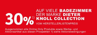30 Prozent auf viele Badezimmer der Marke  Dieter Knoll Collection