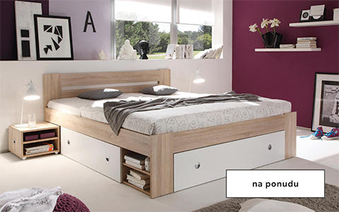 Krevet u bijelo-bež varijanti