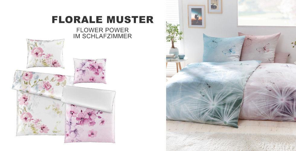 Florale Muster - Flower Power im Schlafzimmer