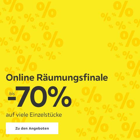 Online Räumungsfnale bis -70% auf viele Einzelstücke