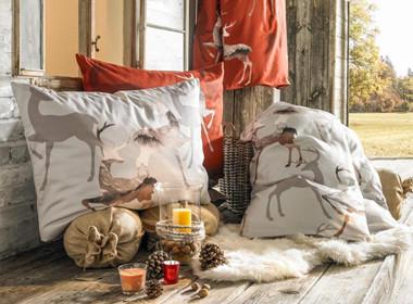Tople prešite odeje in vzglavniki z motivom jelenov