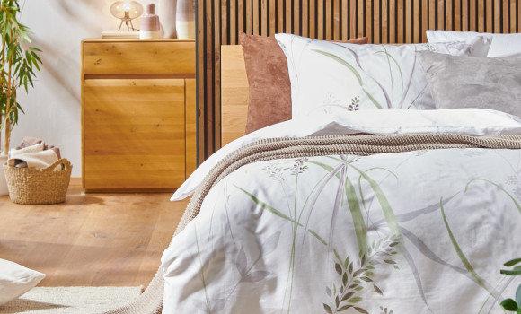 Schlafzimmer in Naturfarben