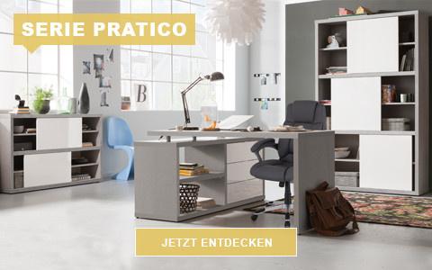 Büro Pratico grau weiß