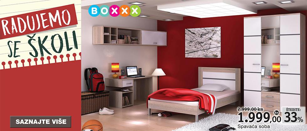 Moderna spavaća soba za mlade Lesnina XXXL