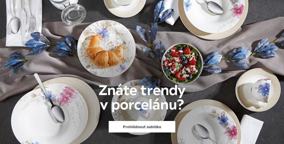 Trendy v porcelánu
