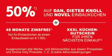 0% auf Dan, DieterKnoll und Novel Einbauküchen  + 48 Monate Zinsfrei  + Gutscheine