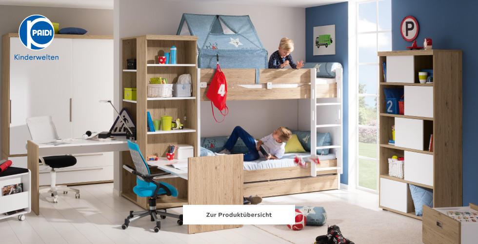 Paidi Kinderwelten Jugendzimmer Holz Blau Rot