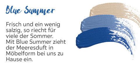 Blue Summer Blaue Töne Möbel Wohnaccessoires