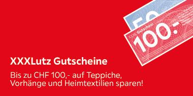 Bis zu CHF 100.- auf Teppiche, Vorhänge und Heimtextiliein sparen!