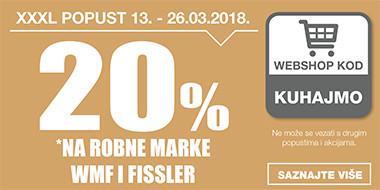 20%  popusta na Wmf i Fissler