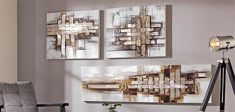 Apstraktna umjetnost blještavih boja raspona od bijele do smeđe zlatne