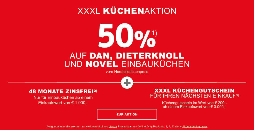 50% auf viele DAN, Dieter Knoll un Novel Einbauküchen