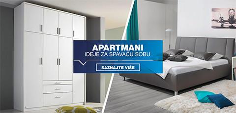 opremanje spavaće sobe u apartmanu