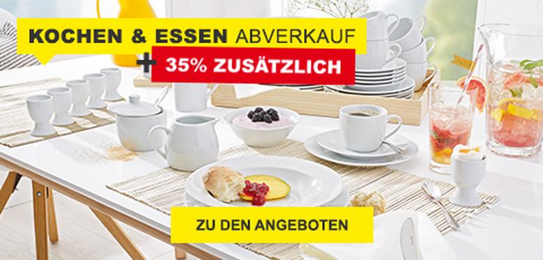 Kochen & Essen Abverkauf