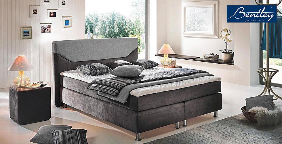 boxspring krevet bentley tamno sivi