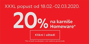 20% popusta na Homeware karniše