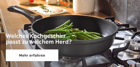 Welches Kochgeschirr passt zu welchem Herd?