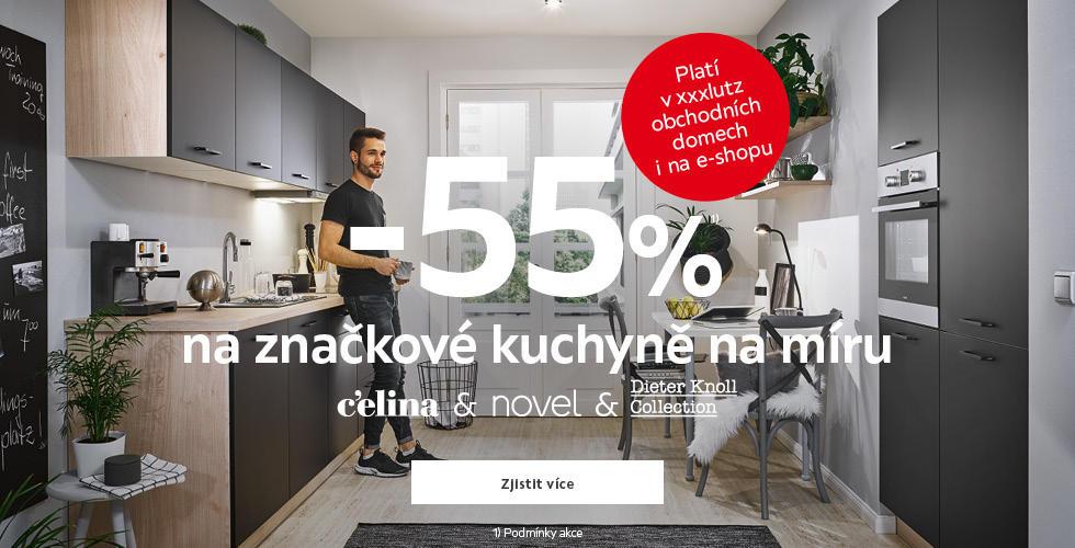 Sleva 55% na vybrané kuchyně