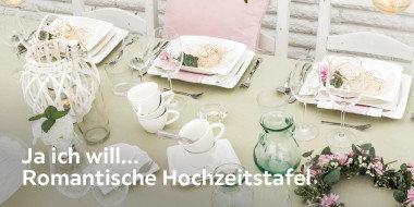 Ja ich will... Romantische Hochzeitstafel