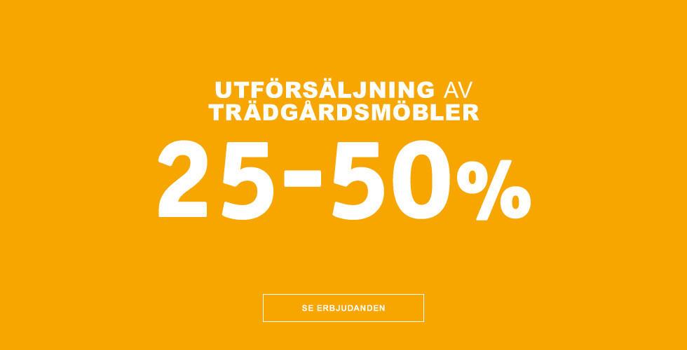 Utförsäljning av trädgårdsmöbler 25-50%