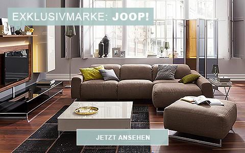 Exklusivmarke JOOP mit Wohnzimmerlandschaft in braun