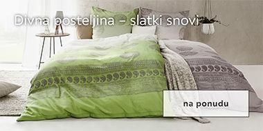 široki izbor kvalitetne posteljine