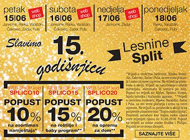 Lesnina Split 15. godišnjica