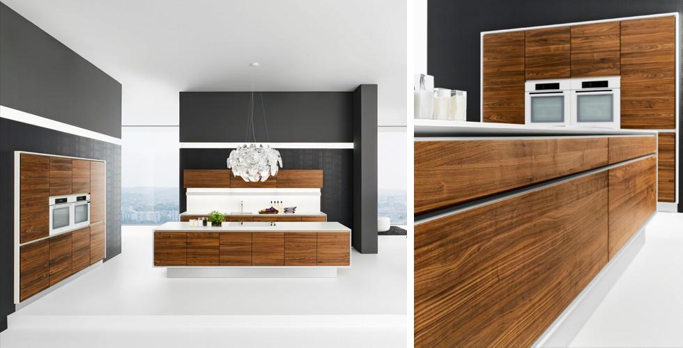 Holzküchen mit Holzmuster