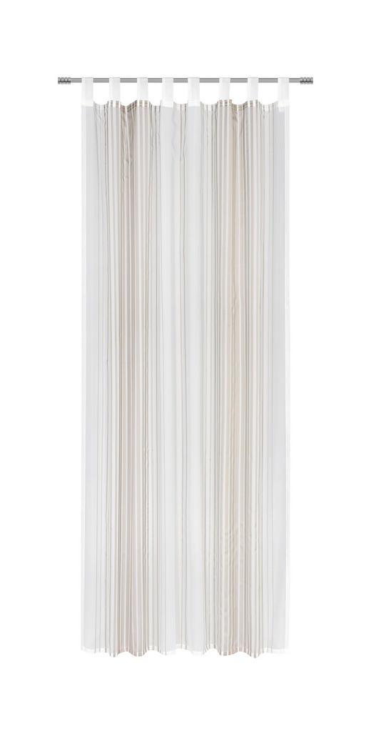 SCHLAUFENSCHAL  halbtransparent   140/255 cm - Taupe, Design, Textil (140/255cm) - ESPOSA