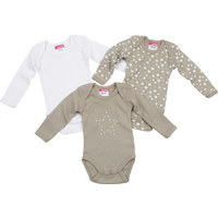 BABYBODY-SET - Taupe, Basics, Textil (50/56) - MY BABY LOU