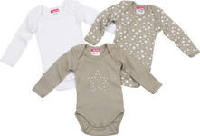 BABYBODY-SET 3-teilig - Taupe, Basics, Textil (50/56) - MY BABY LOU
