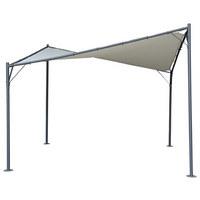 ZAŠTITA OD SUNCA - antracit/taupe, Design, metal/tekstil (350/280-210/350cm) - Ambia Garden