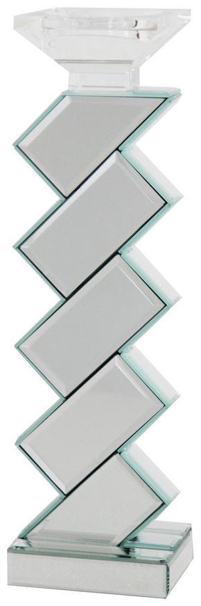 LJUSSTAKE - klar/silver, Design, glas/träbaserade material (10/40/10cm) - Ambia Home