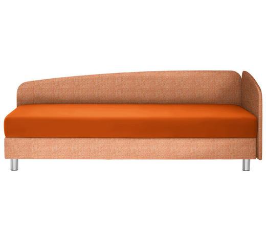 LIEGE in Textil Orange  - Chromfarben/Orange, KONVENTIONELL, Textil/Metall (204/75/94cm) - Joka