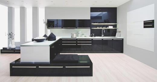 EINBAUKÜCHE - Schwarz, Design, Glas - Nolte Küchen