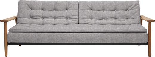 SCHLAFSOFA Webstoff Eichefarben, Grau - Eichefarben/Grau, Design, Holz/Textil (232/79/99cm) - Innovation